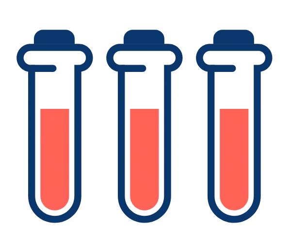 Blood vials icon