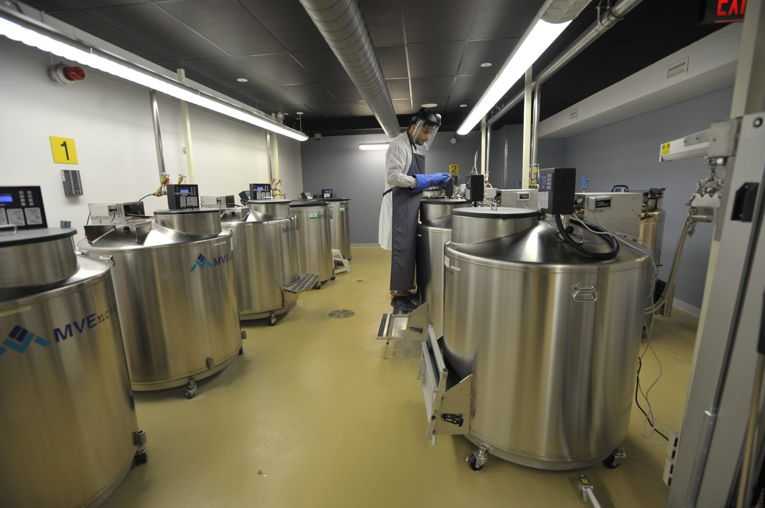 Liquid nitrogen freezers at the former OHS biosample processing site. Photo by JP Moczulski/CP Images.